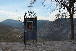 Greek Roadside Shrine