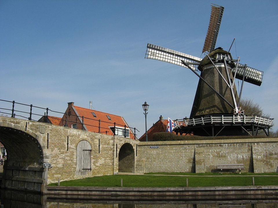 The Sloten Windmill in Amsterdam.