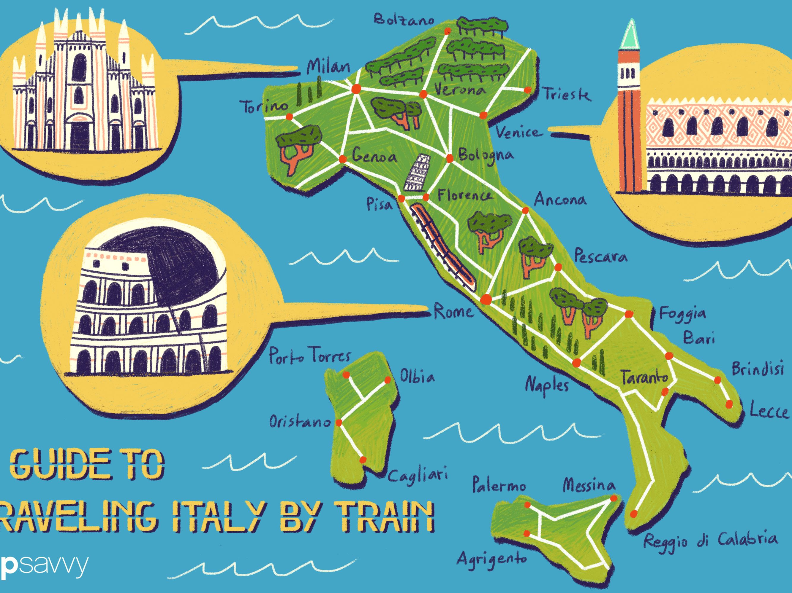 Map Of Trains In Italy.A Guide To Traveling Italy By Train