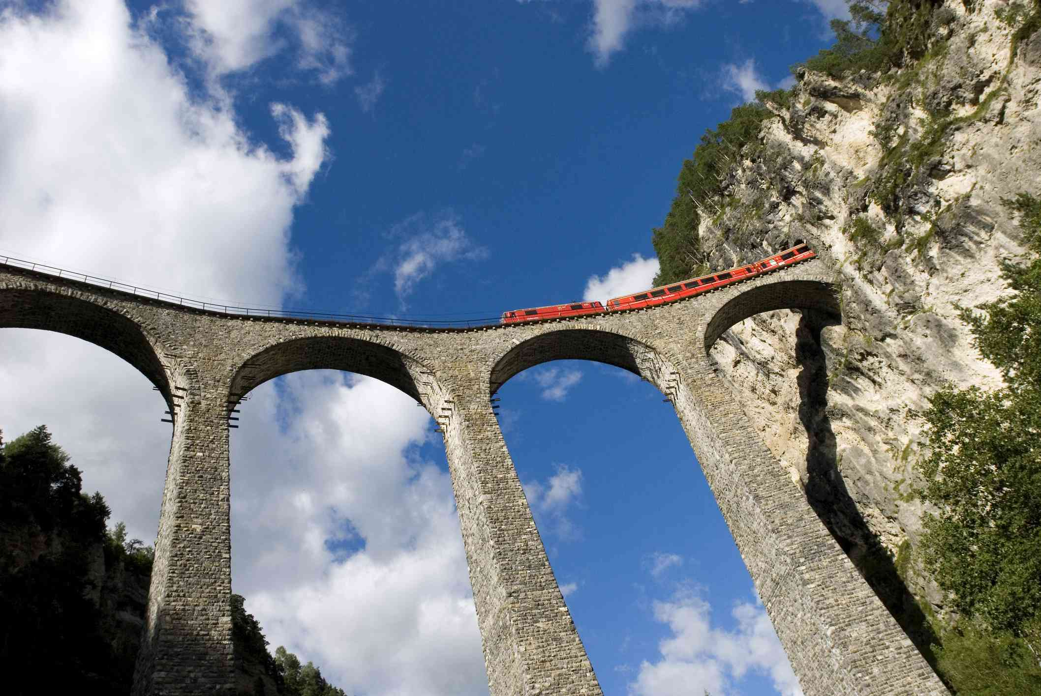 Viaduct on the Bernina Express