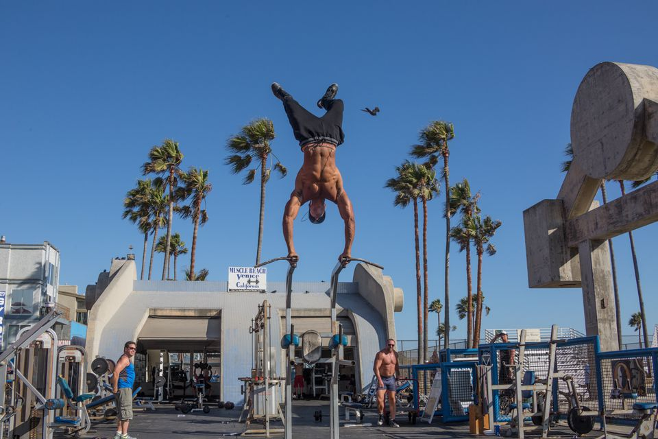 Muscle Beach Gym At Venice Boardwalk