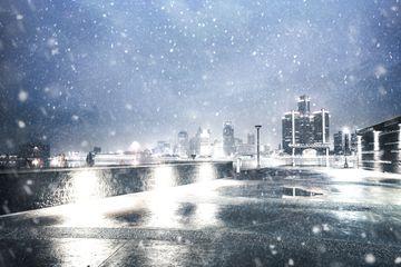 Winter in Detroit, Michigan
