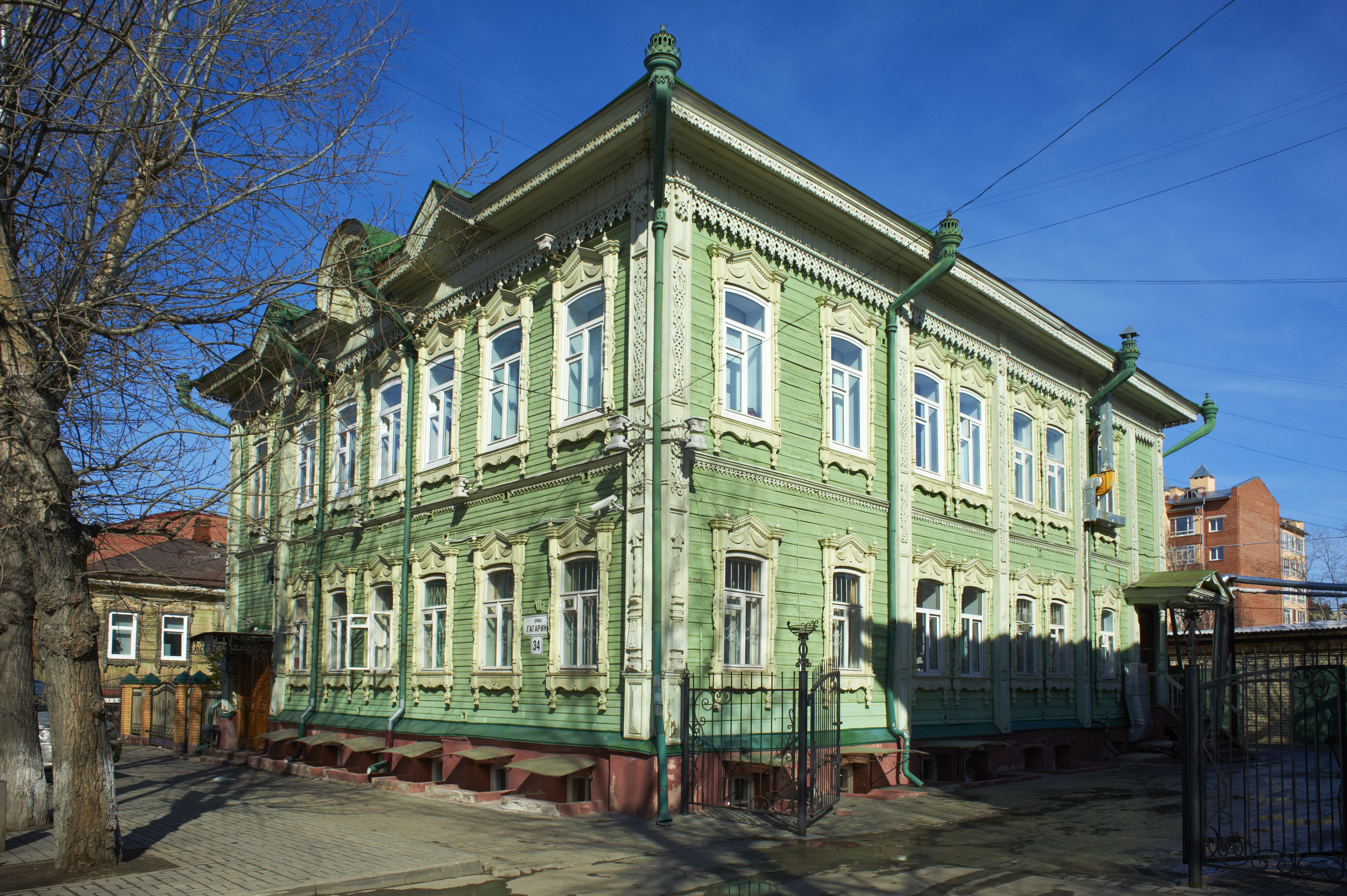 Rusia, Tomsk, arquitectura de madera