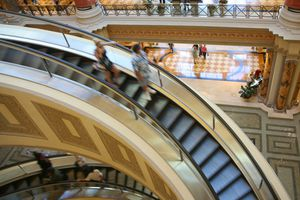 Escalator In Indoor Shopping Mall in Las Vegas