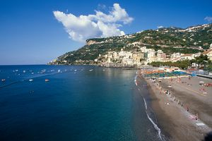 Beach at Minori in Southern Italy