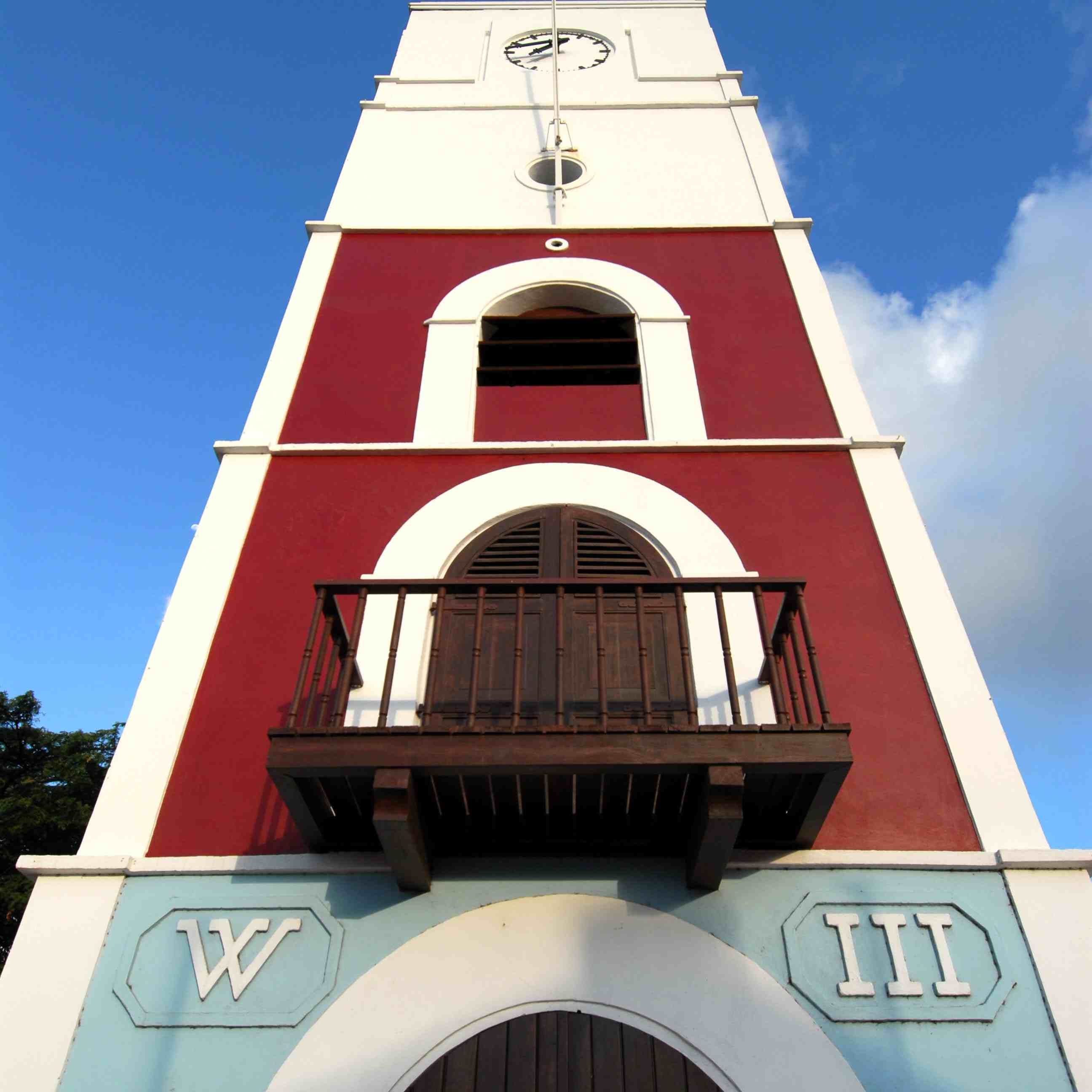 Tower at the Fort Zoutman Historical Museum in Oranjestad, Aruba