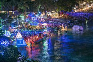 The Full Moon Party at Haad Rin, Koh Phangan, Thailand
