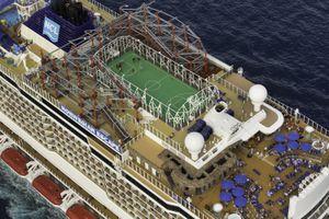 Outdoor deck areas on the Norwegian Escape cruise ship