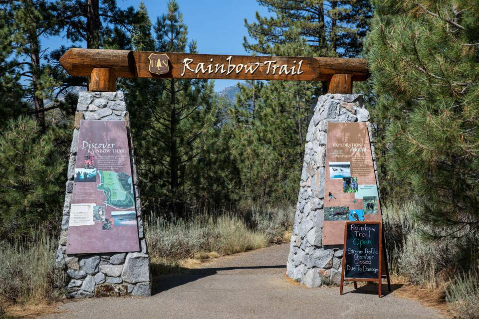 Taylor Creek Visitor Center is right next to the Rainbow Trail