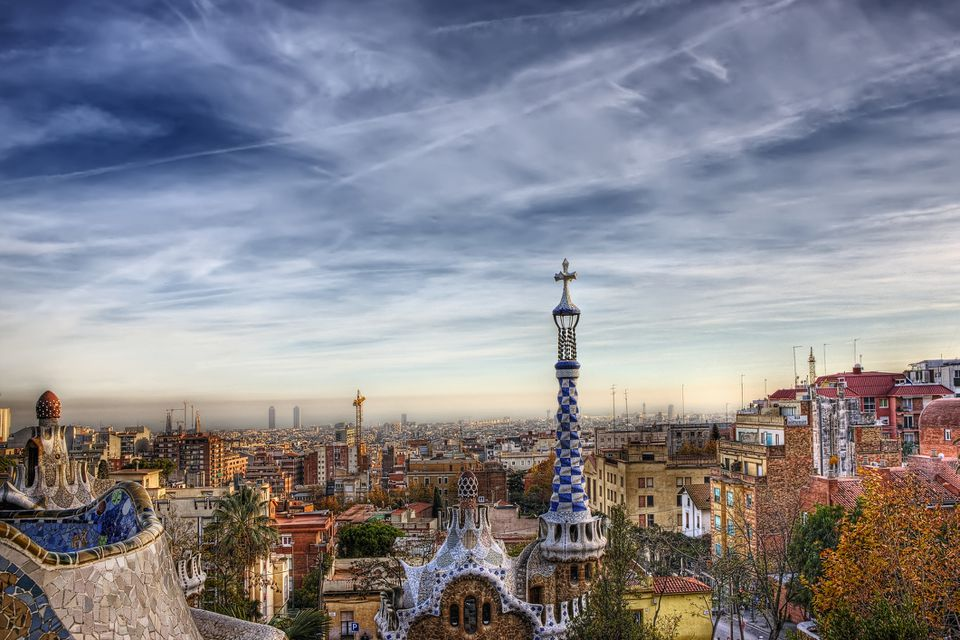 Barcelona Skyline as seen from Park Guell
