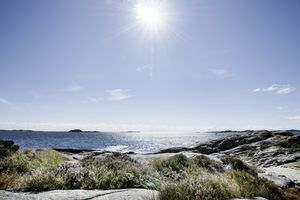 A sunny beach in Norway.