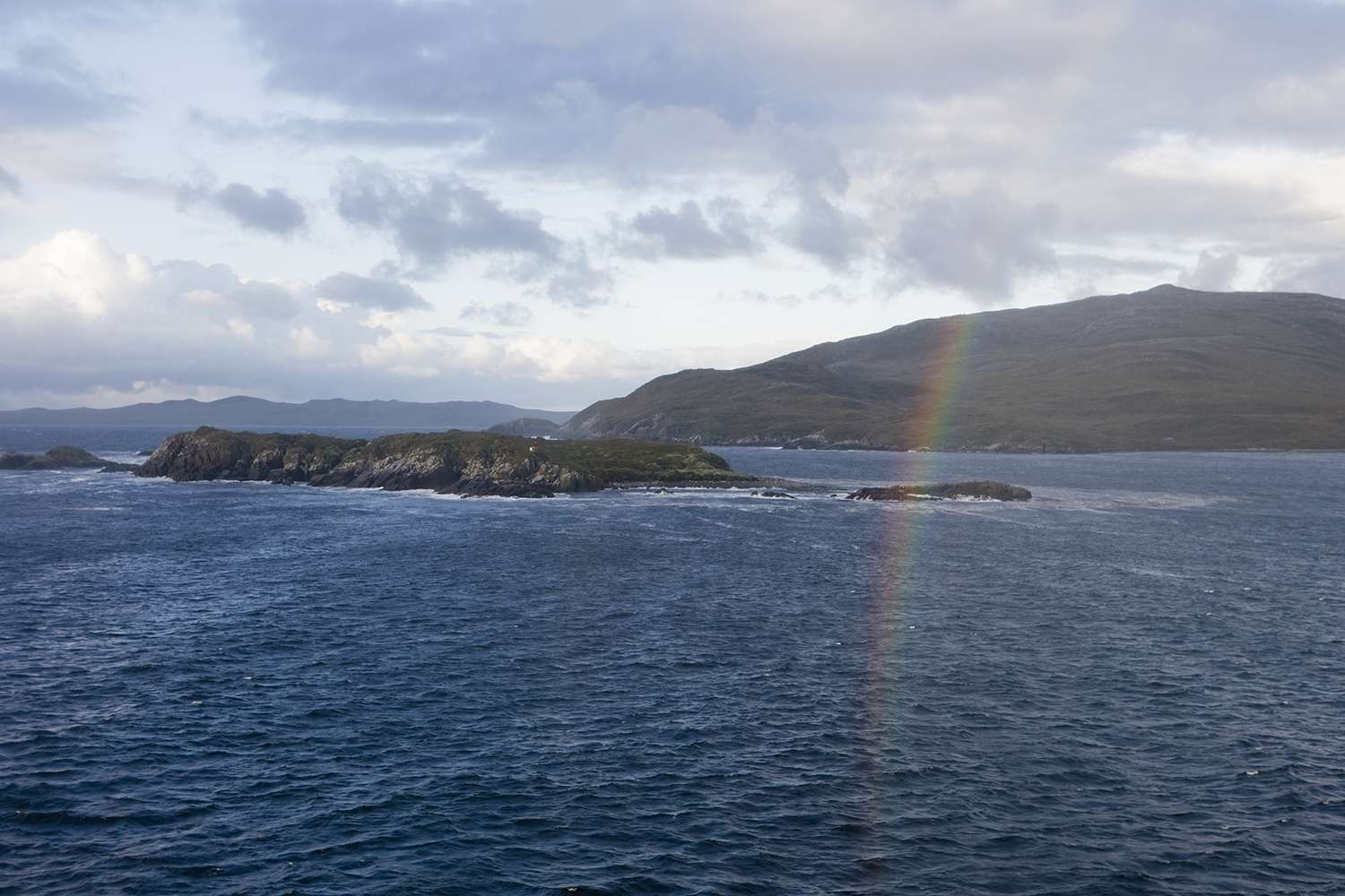 A rainbow over Cape Horn in Chilean Patagonia