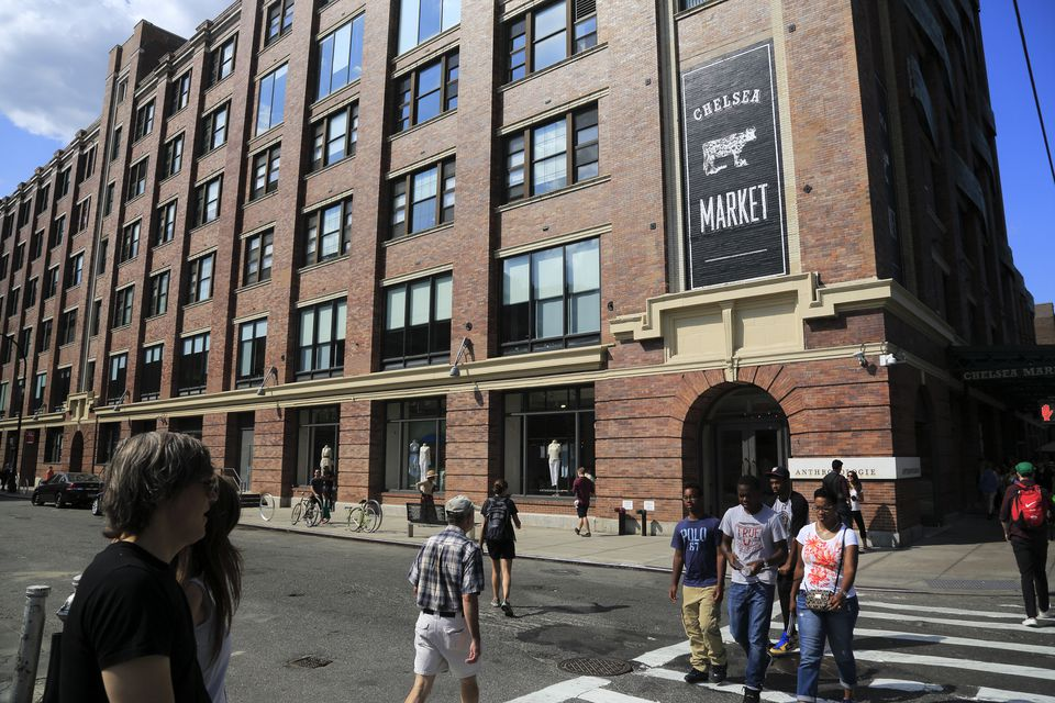 An exterior view of Chelsea Market, NYC.