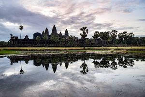 Wide shot of Angkor Wat