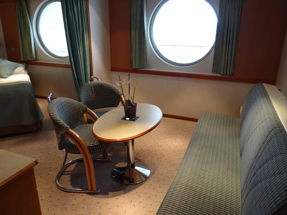 Midnatsol Mini-Suite Sitting Area - Hurtigruten Coastal Liner Accommodations