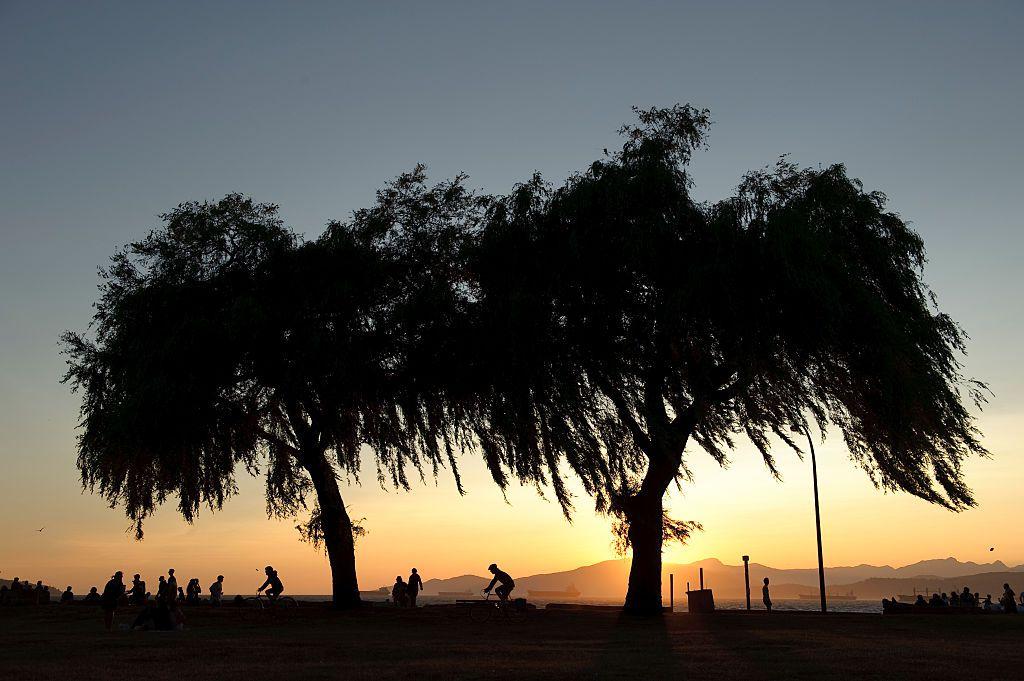 Sunset at Kitsilano Beach