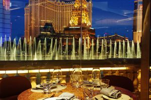 The view from Lago at Bellagio Las Vegas