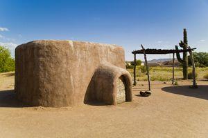 replica Hohokam house