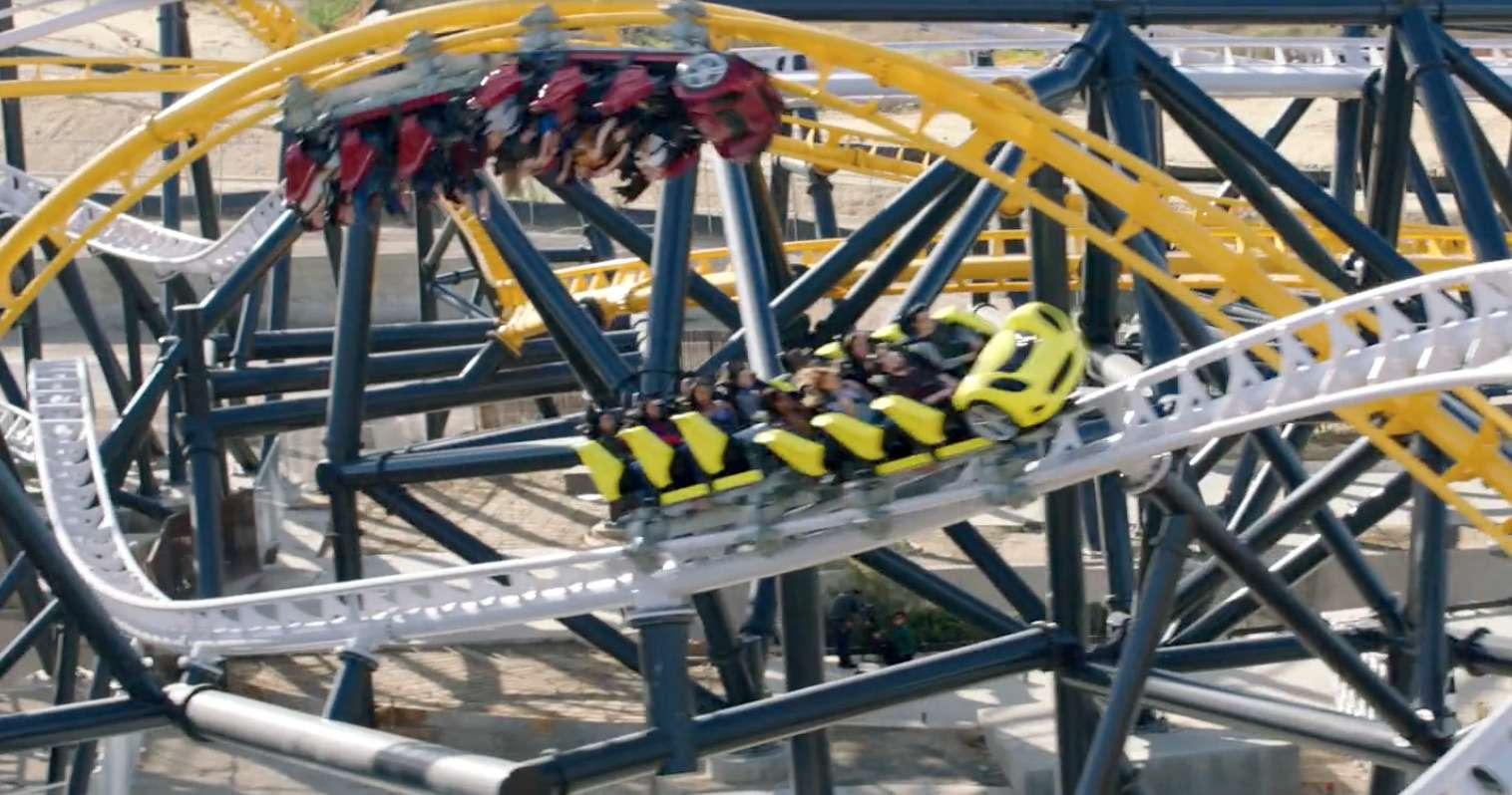 West Coast Racers montaña rusa en Six Flags Magic Mountain