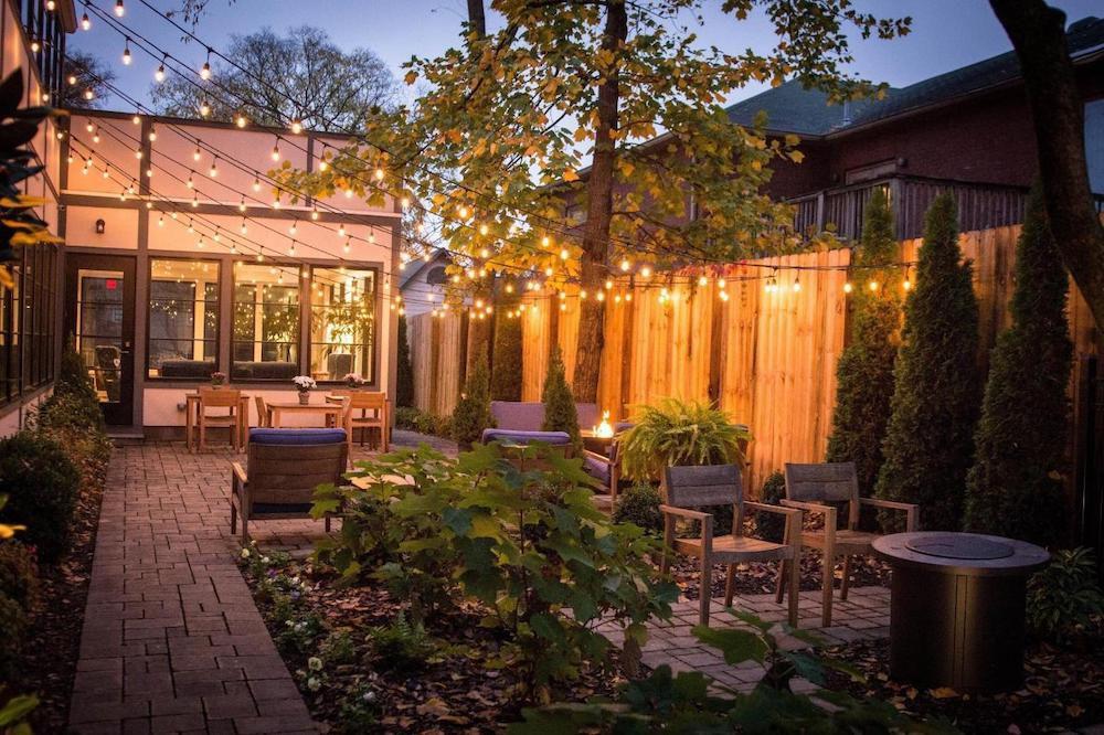 Germantown Inn backyard courtyard