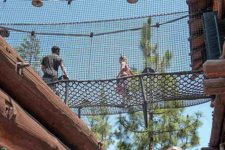 Rope Bridge at the Redwood Creek Challenge Trail