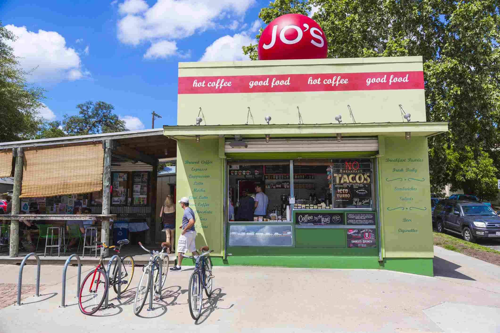 Café de Jo en el distrito SoCo de Austin, Texas