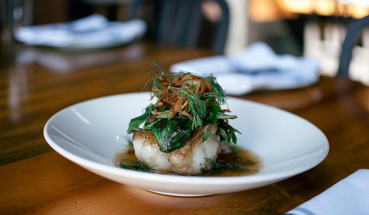 Baked fish at RockCreek Seafood and Spirits