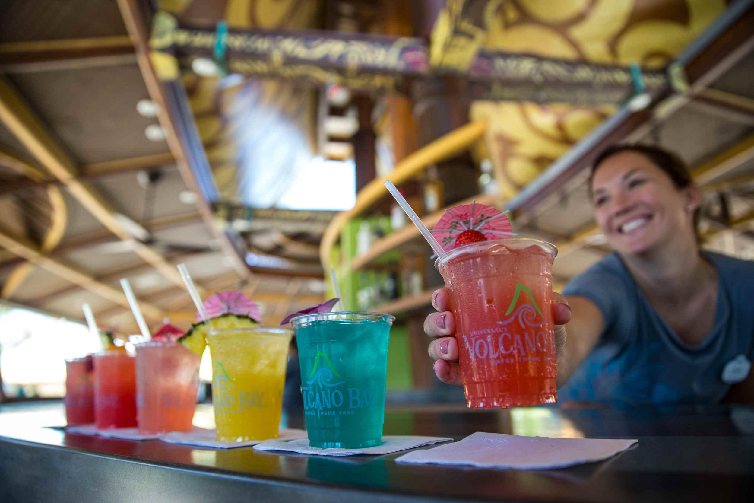 Volcano Bay drinks