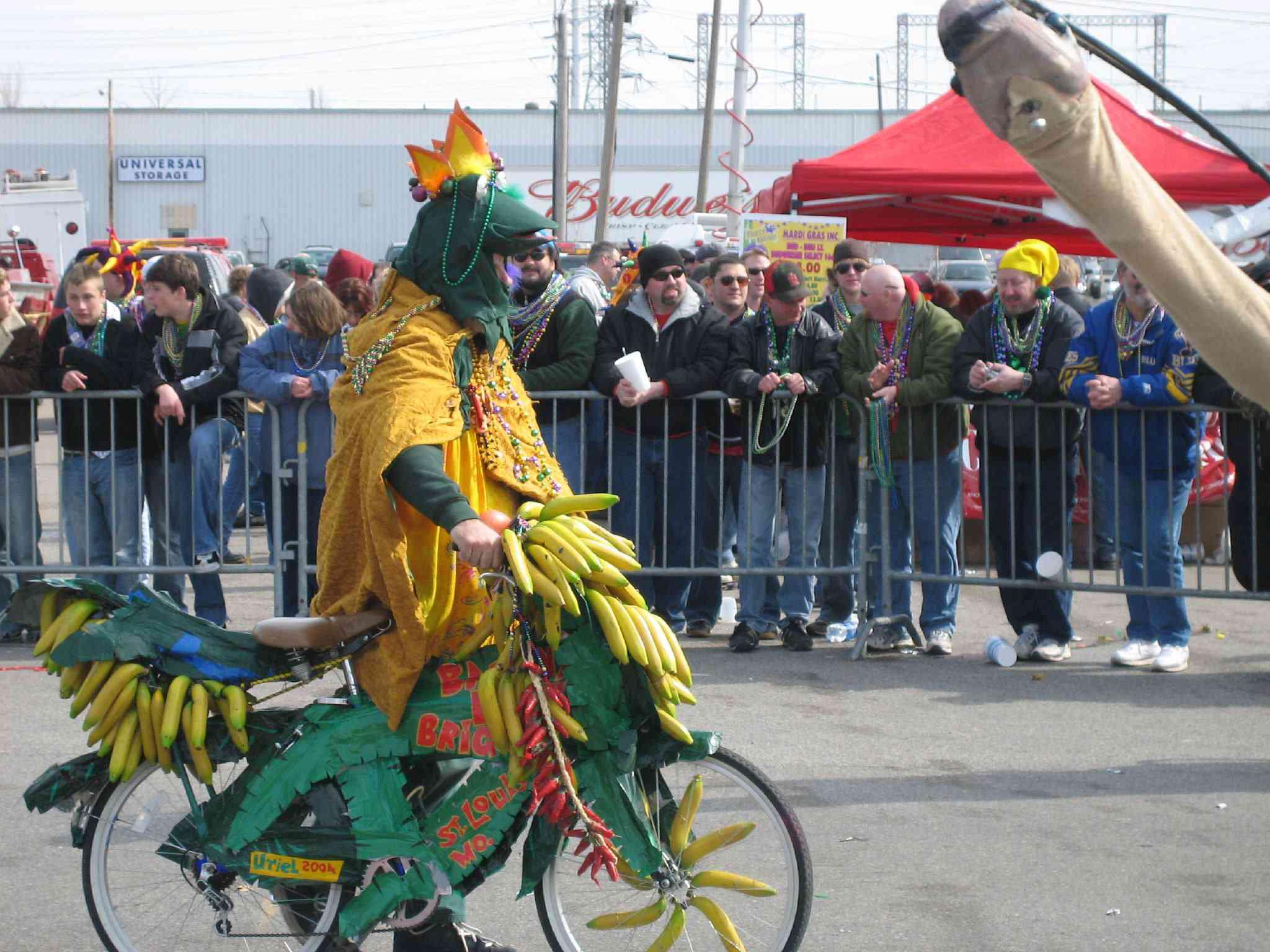 Banana Bike Brigade at St Louis Mardi Gras in Soulard