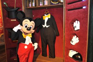 Mickey gets ready for a greeting session