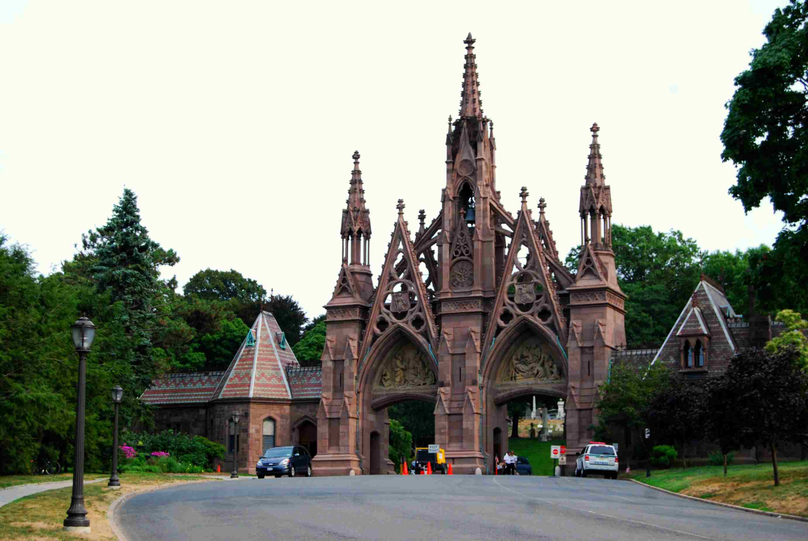 Main Gate to Green-Wood Cemetery