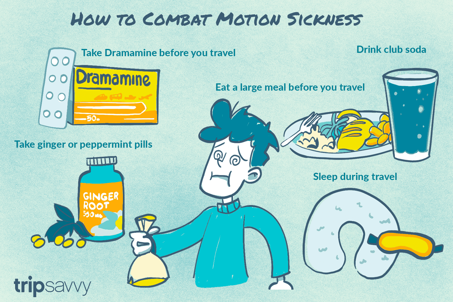 how to prevent and cure motion sickness