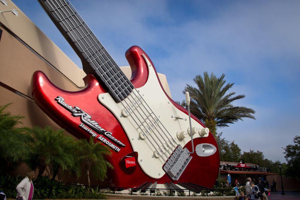 The Rock 'n' Roller Coaster at Disney's Hollywood Studios in Disney World.