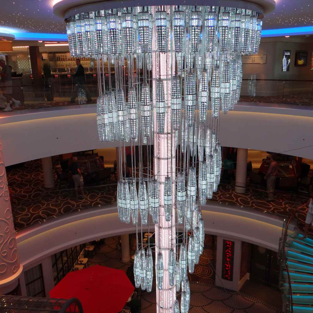 Norwegian Getaway chandelier at 678 Ocean Place