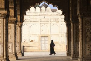 India, Delhi, Old Delhi, Red Fort, Diwan-i-Khas- hall of private audience