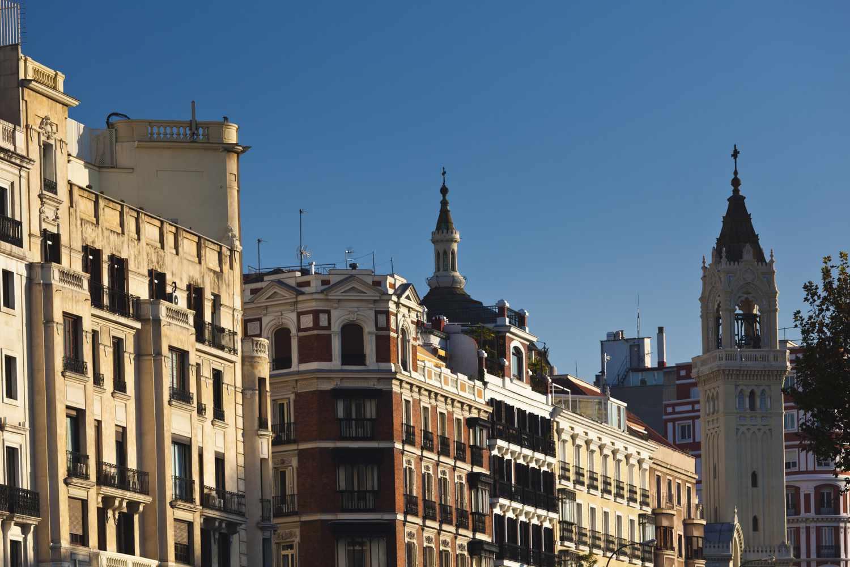 Buildings in the Salamanca neighborhood of Madrid, Spain
