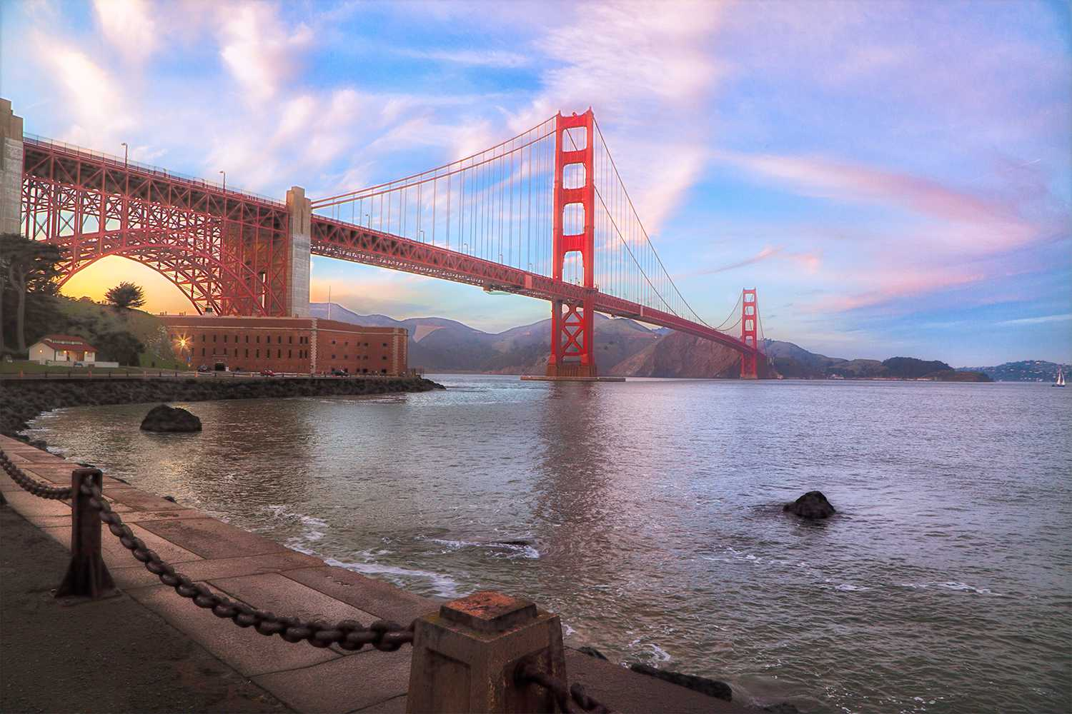 View of the Golden Gate Bridge from Fort Point