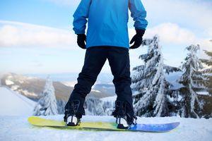 Man on snowboard