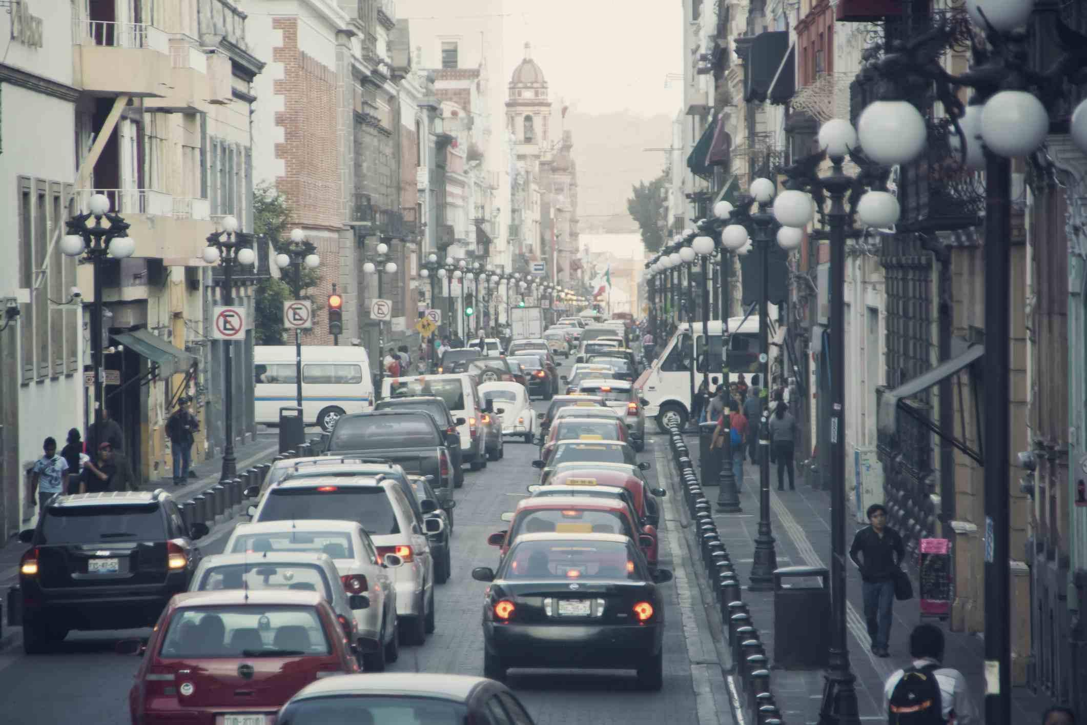 The streets of Puebla, Mexico.