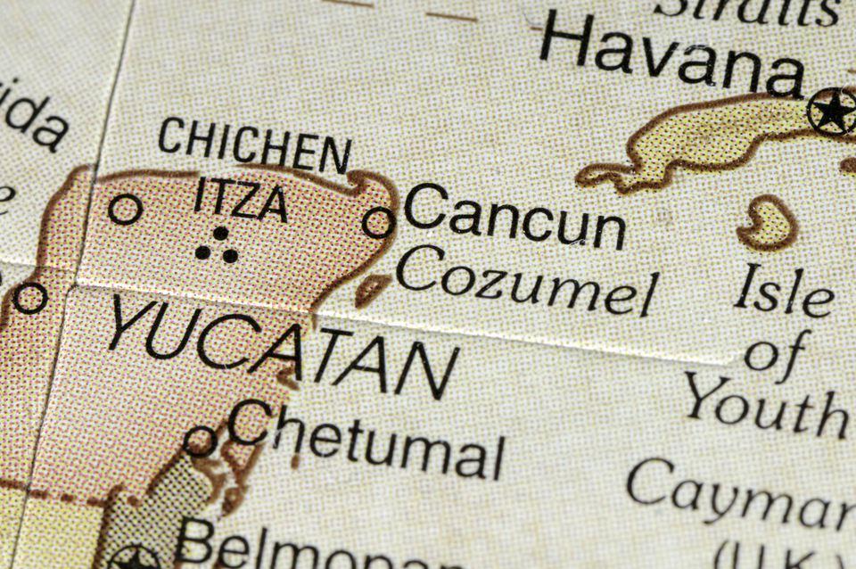 Map of Yucatan