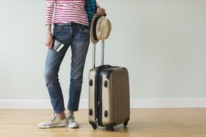 Woman ready to go on vacations