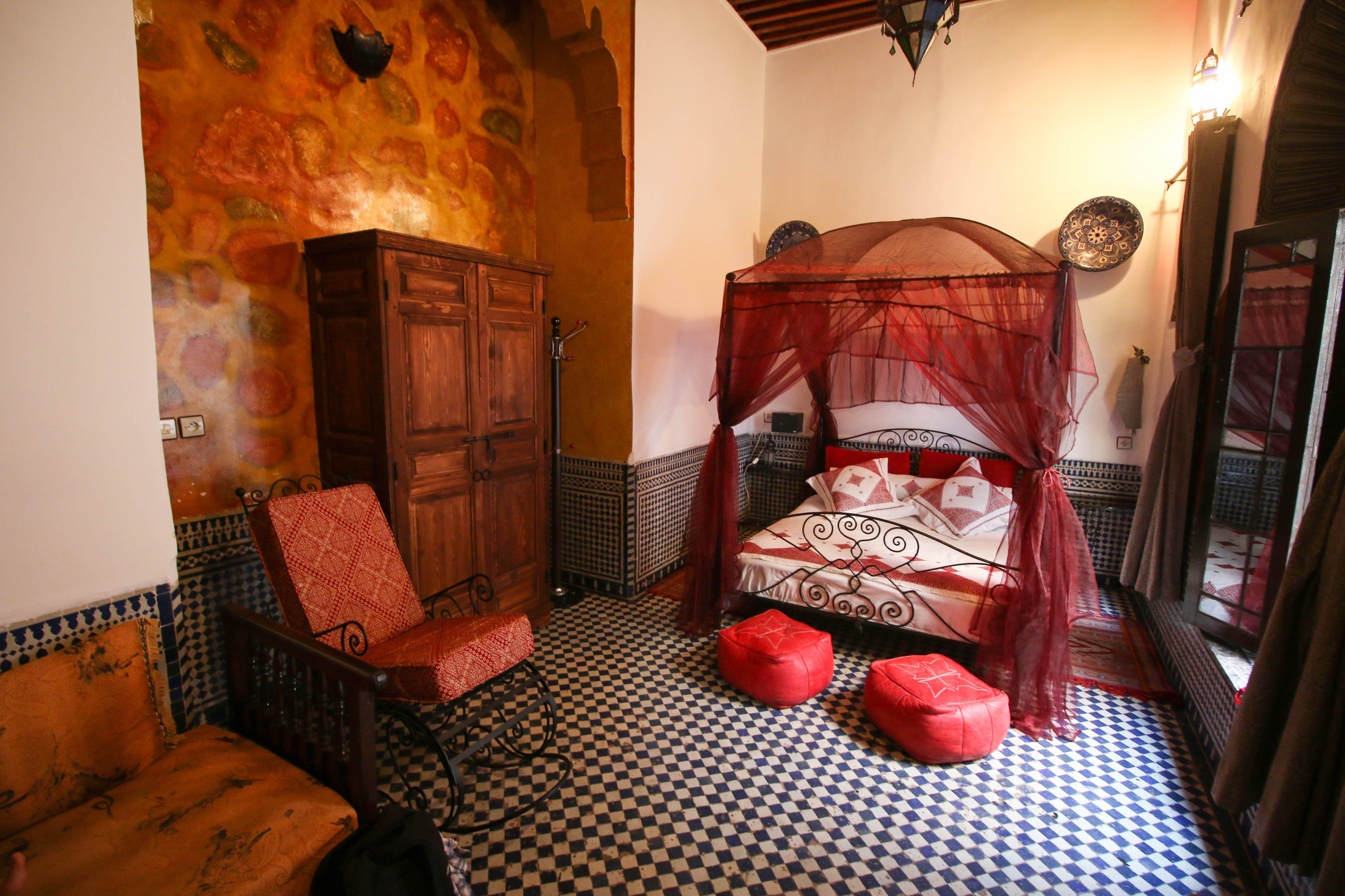 Una habitación en un riad