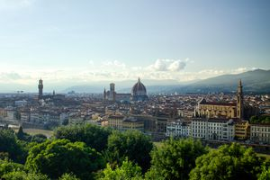 View of Florence Italy from Piazzela Michelangelo
