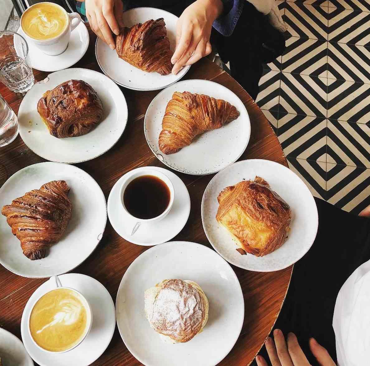 Breakfast at Mirabelle Bakery