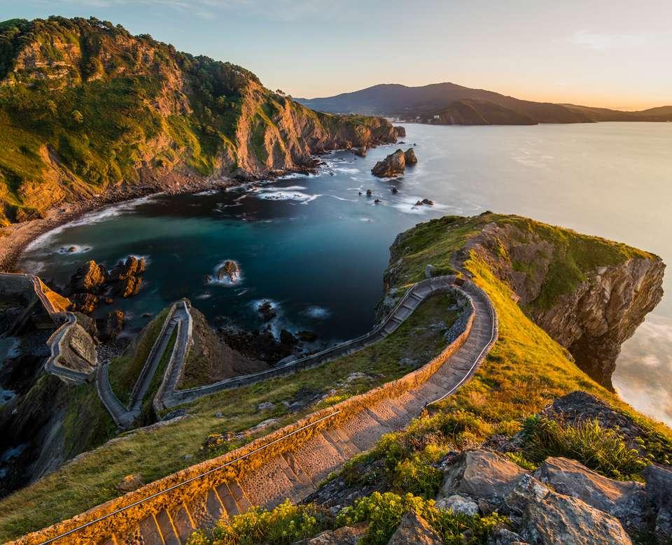 Path to San Juan de Gaztelugatxe, Basque Country, Spain