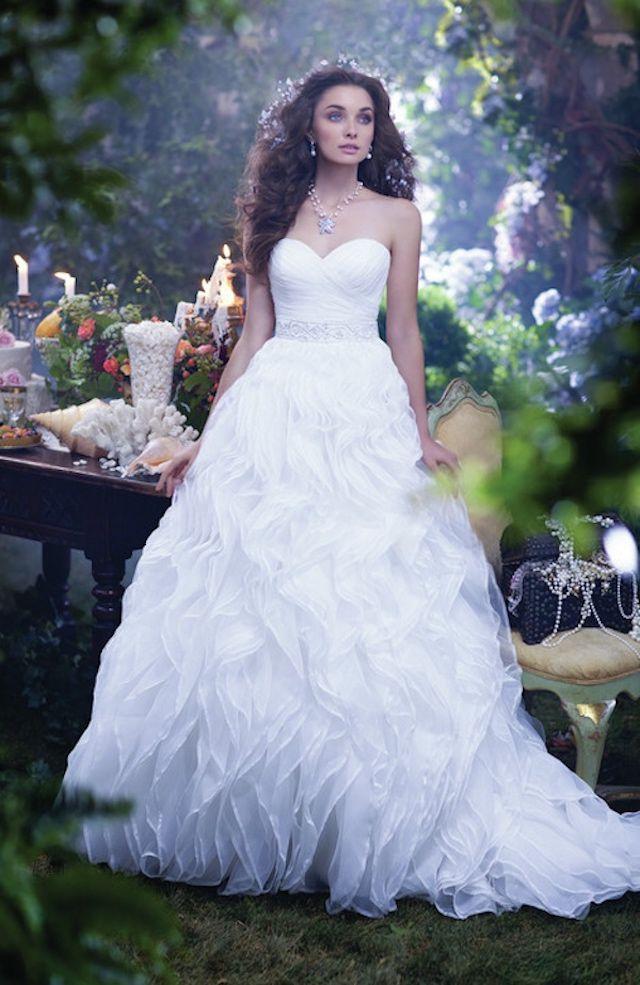 woman wearing an alfred angelo disney dress