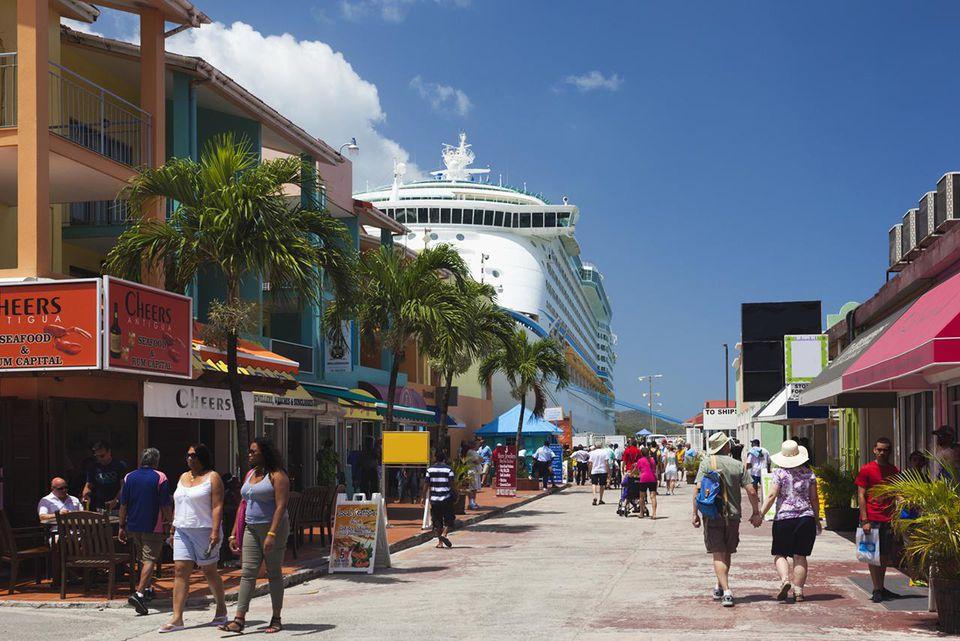 Heritage Quay, zona de compras de la terminal de cruceros