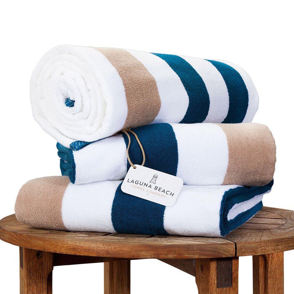 Plush Cabana Beach Towel by Laguna Beach Textile Co.
