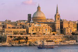 Valletta, Malta at sunset