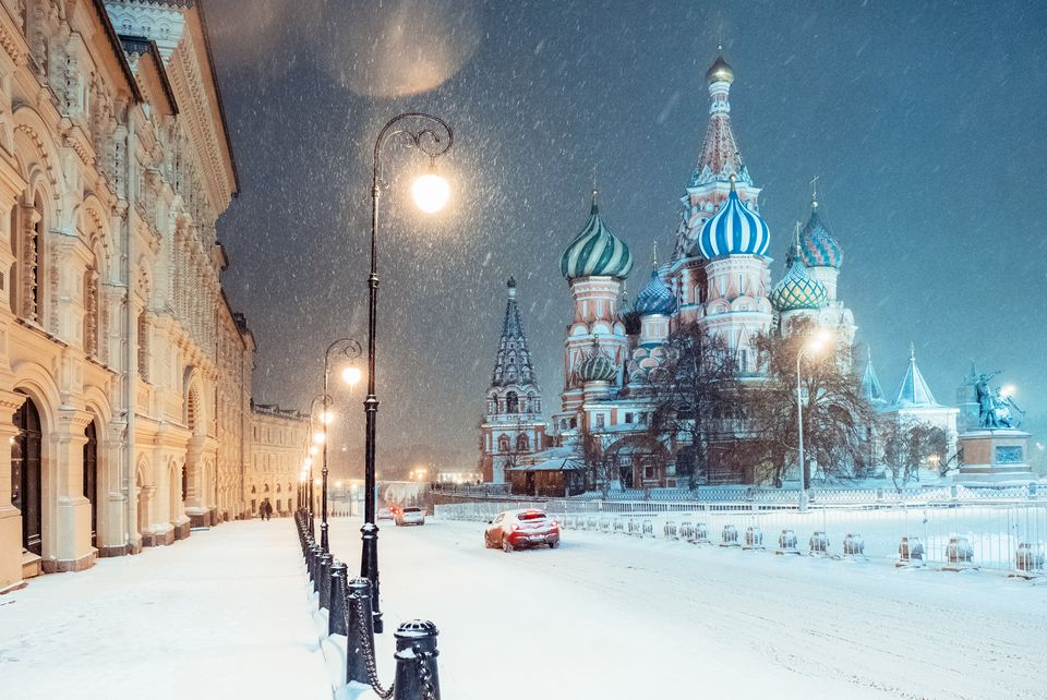 Winter in Moscow. Russia.